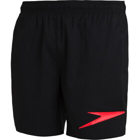 "speedo Sport Logo 16"" Watershorts Men black/dragonfire orange"